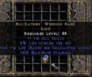 Bul-Kathos Wedding Band 9% Life Leech UsWest Ladder